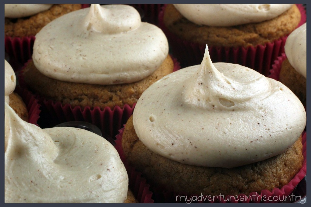 Sweet Potato Cupcakes with Brown Sugar and Cinnamon Cream Cheese Frosting