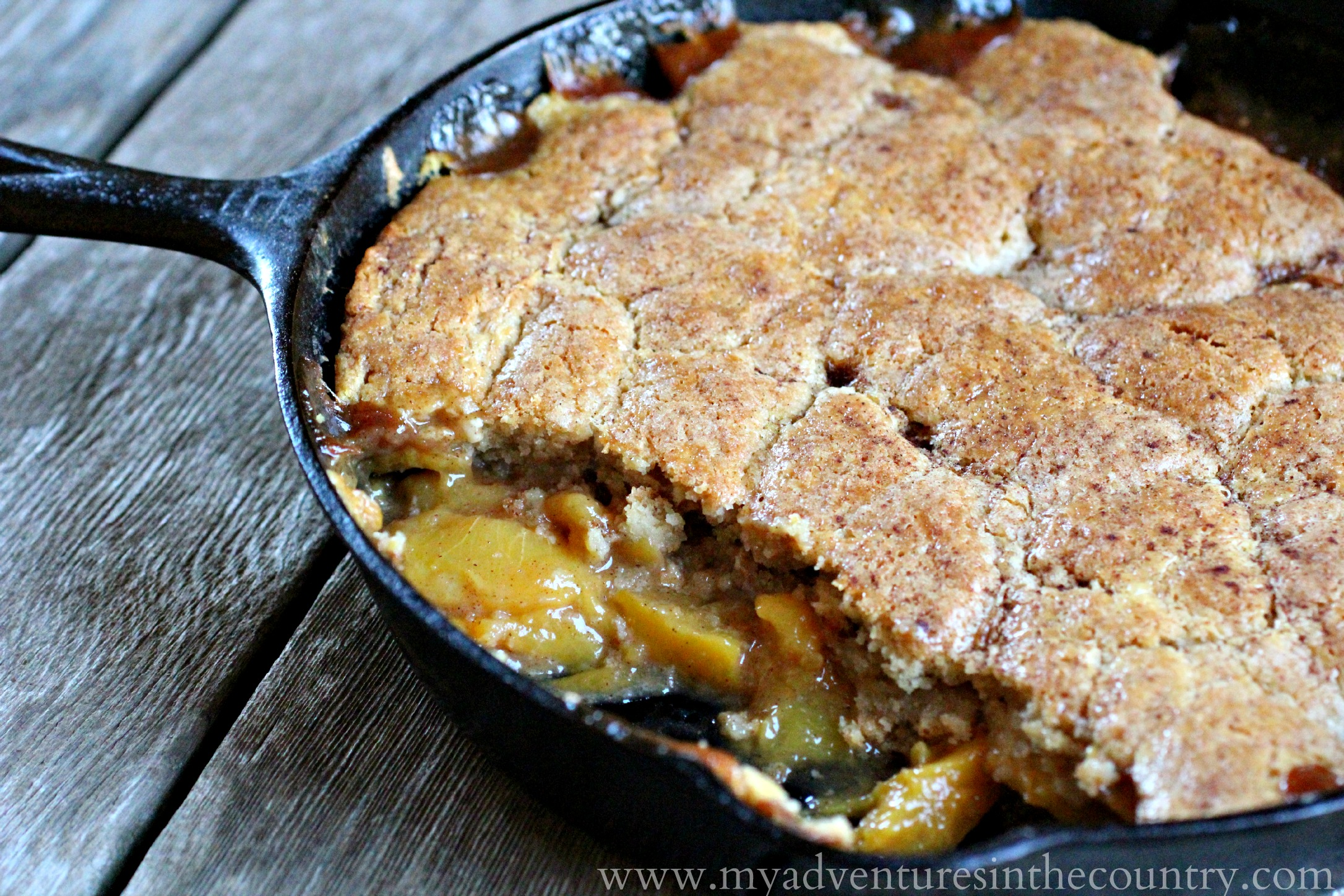 Old Fashioned Peach Cobbler for the July Kitchen Bootcamp Challenge