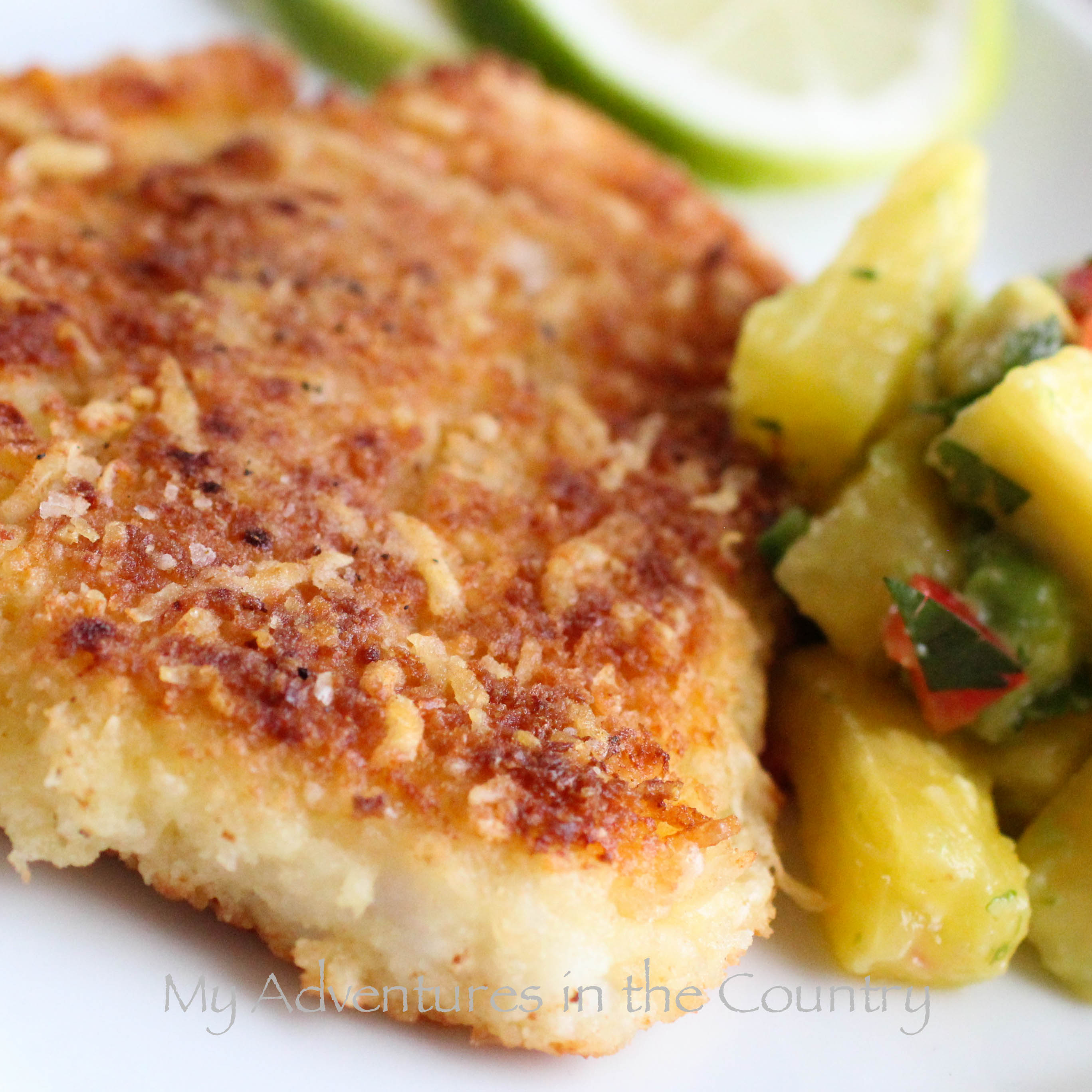 baked swai with panko bread crumbs